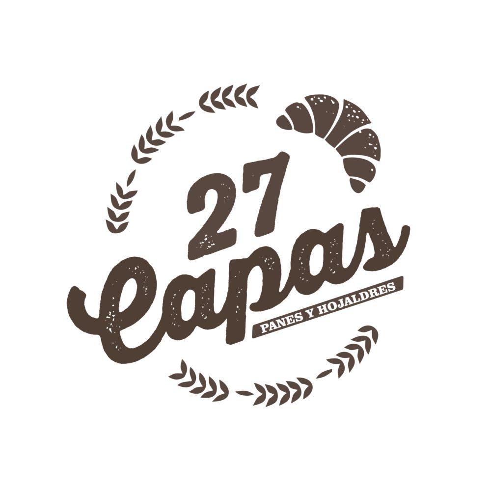Logotipo y etiquetas Panadería 27 Capas
